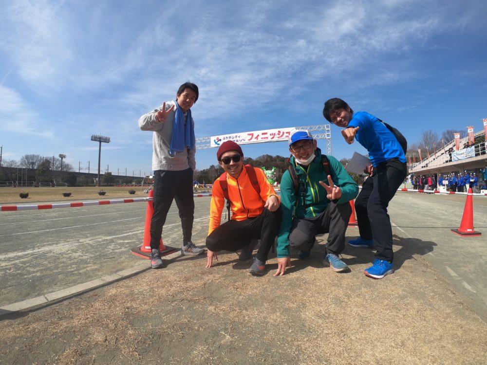 深谷マラソンフィニッシュ