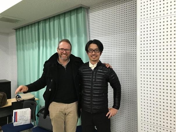 国立東京海洋大学にて足病学協会会長とひかり接骨院院長